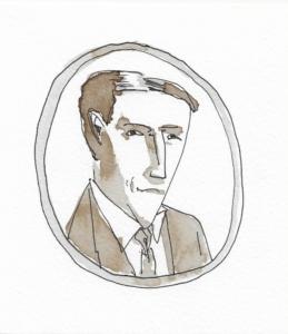 portrait dessiné du Dr Bates